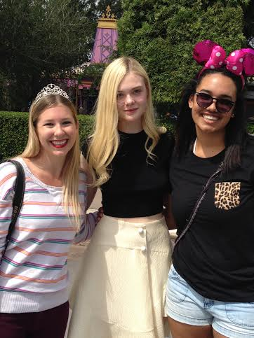 Elle Fanning at Disneyland!
